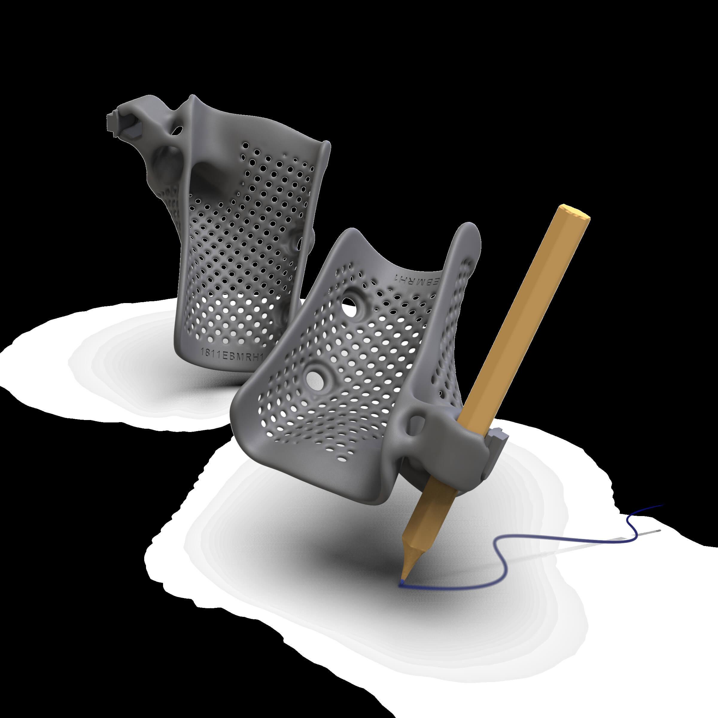 3D-Druck-Orthese_Handlagerung mit Stift.mit Schatten